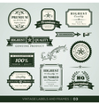 Vintage premium quality and guarantee labels and f vector