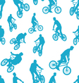 Seamless ride bicycle pattern background vector