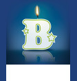 Candle letter b with flame vector