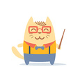 Character teacher in a business suit with vector