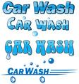 Car wash symbol set vector