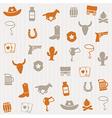 Cowboy seamless pattern vector