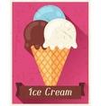Ice cream retro poster background design in flat vector