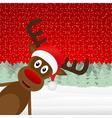 Reindeer peeking side in the forest vector