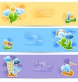 Weather background banners set vector