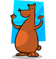 Cartoon doodle of bear vector