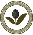 Vintage olive branch icon vector