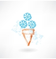 Cold ice-cream grunge icon vector