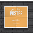 Blank paper poster on brick wall background vector