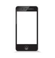 Black modern phone on white background vector