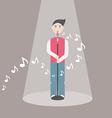 Male singer - eps10 vector