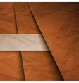Abstract background with brown paper layers vector