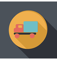 Paper flat icon truck logistic icon vector