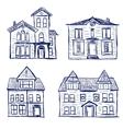 Houses doodles vector