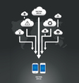 Cloud infographic arrow graph vector