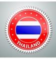 Thai flag label vector