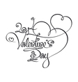 Caligraphic text 2014 valentines day vector
