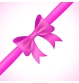 Big shiny pink bow and ribbon on white background vector