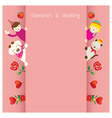 Love concept background and border vector