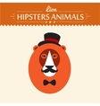 Abstract on lion head hipster style vector
