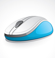 Illustrated blue digital mouse vector