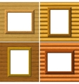 Wood frame on wall set vector