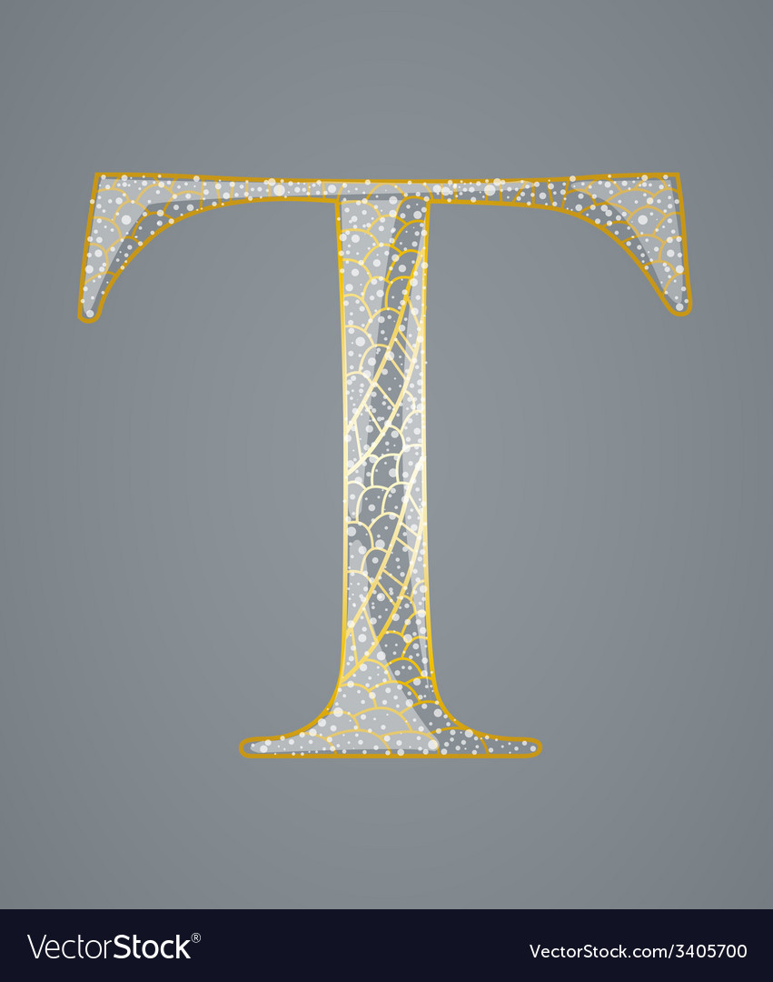 Abstract golden letter t vector | Price: 1 Credit (USD $1)