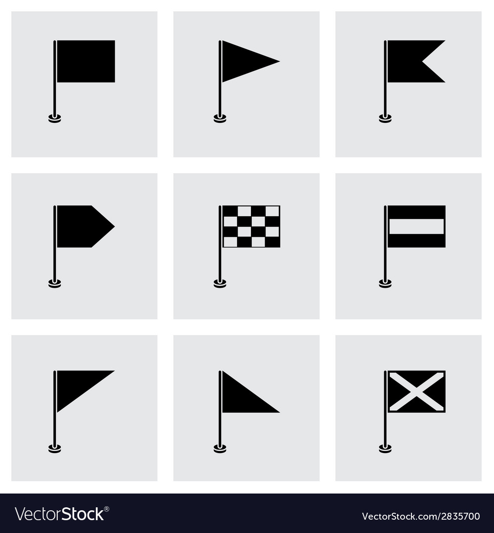 Black flags icons set vector | Price: 1 Credit (USD $1)
