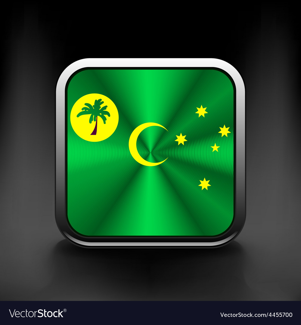 Cocos and keeling islands flag icon see also vector | Price: 1 Credit (USD $1)
