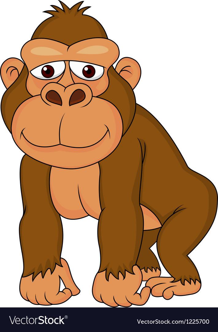 Cute gorilla cartoon vector | Price: 3 Credit (USD $3)