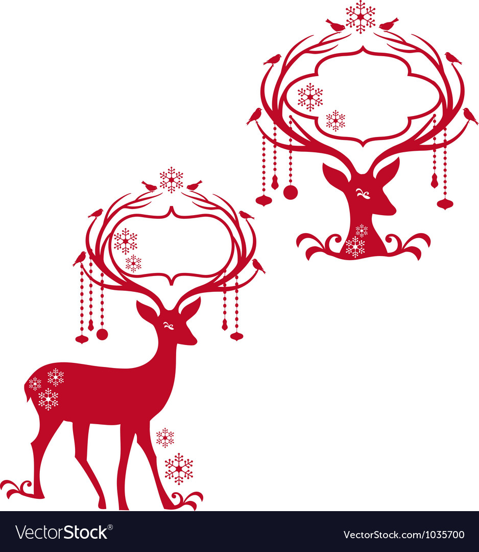 Deer with blank frames vector | Price: 1 Credit (USD $1)