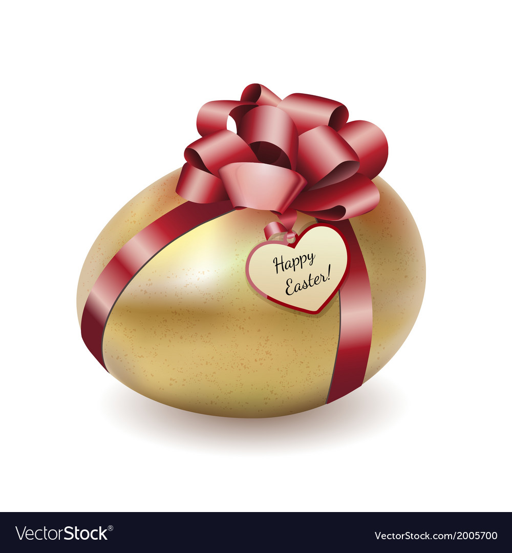 Easter gold egg with greeting card vector | Price: 1 Credit (USD $1)