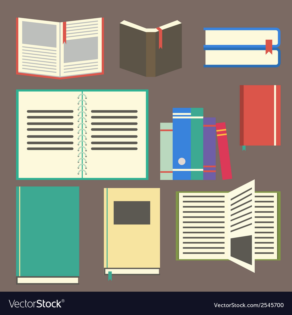 Flat design book vector | Price: 1 Credit (USD $1)