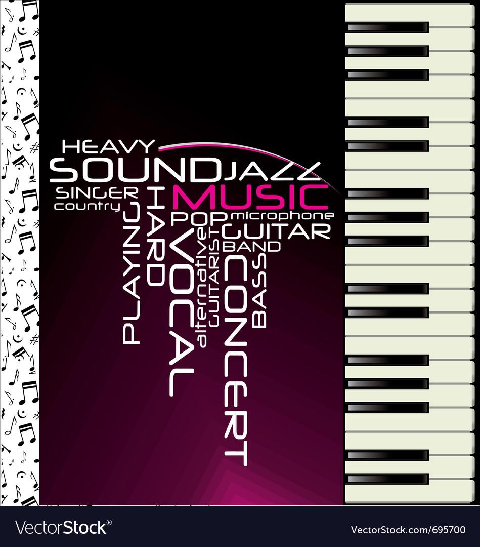 Music purple piano background vector | Price: 1 Credit (USD $1)