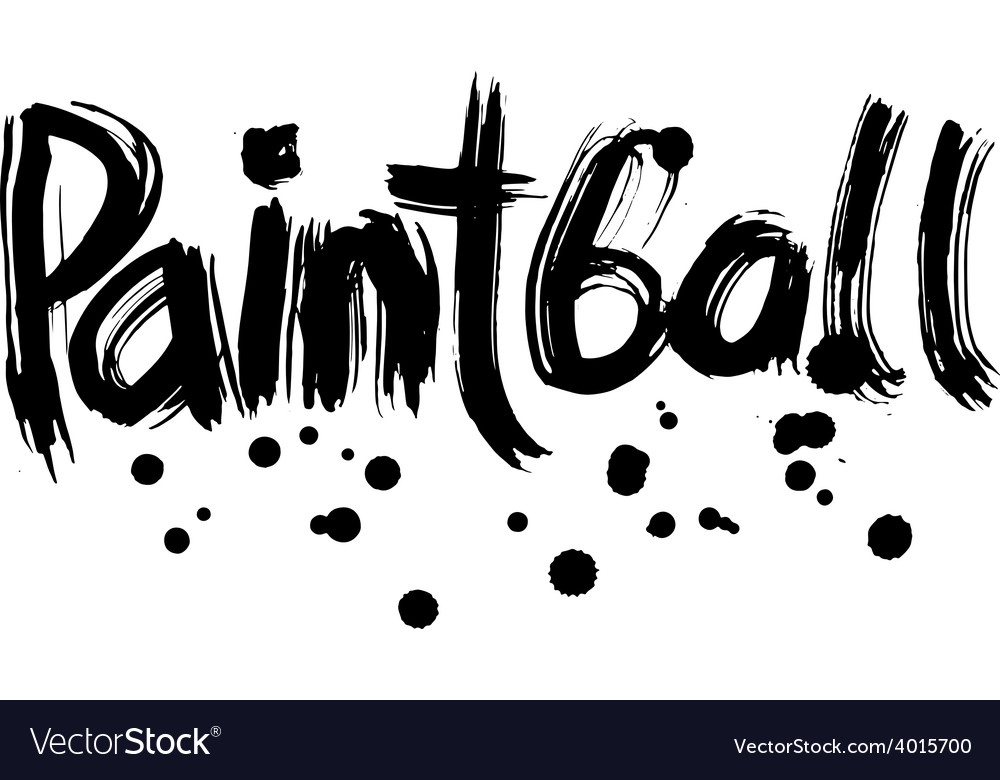 Paintball hand lettering handmade calligraphy vector | Price: 1 Credit (USD $1)