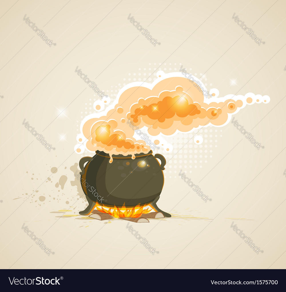 Pot in the fire vector | Price: 1 Credit (USD $1)