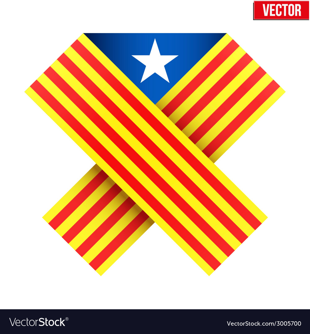 Ribbon of independence catalonia vector | Price: 1 Credit (USD $1)
