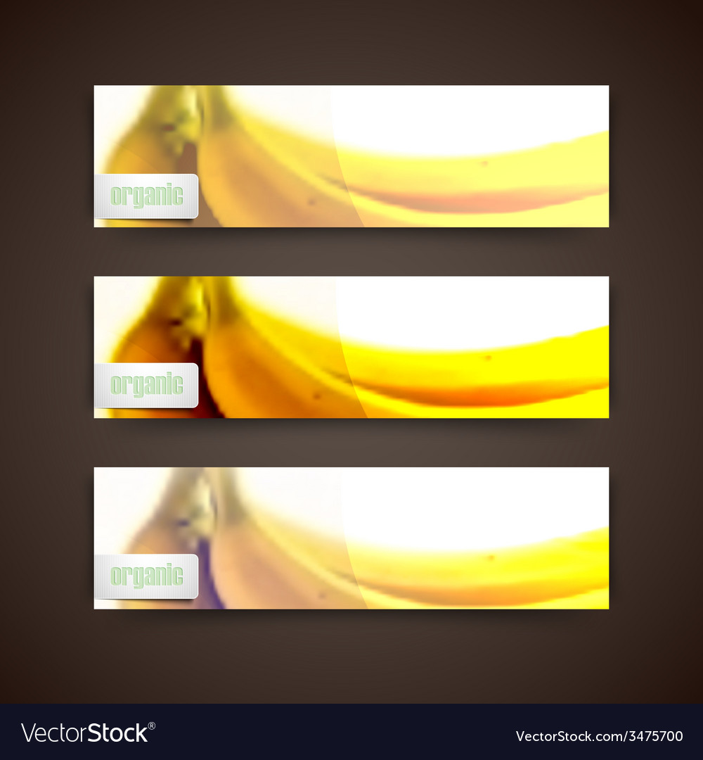 Set of banners with blurred background of yellow vector | Price: 1 Credit (USD $1)