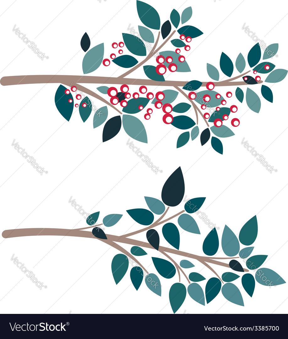 Simple tree branch vector | Price: 1 Credit (USD $1)