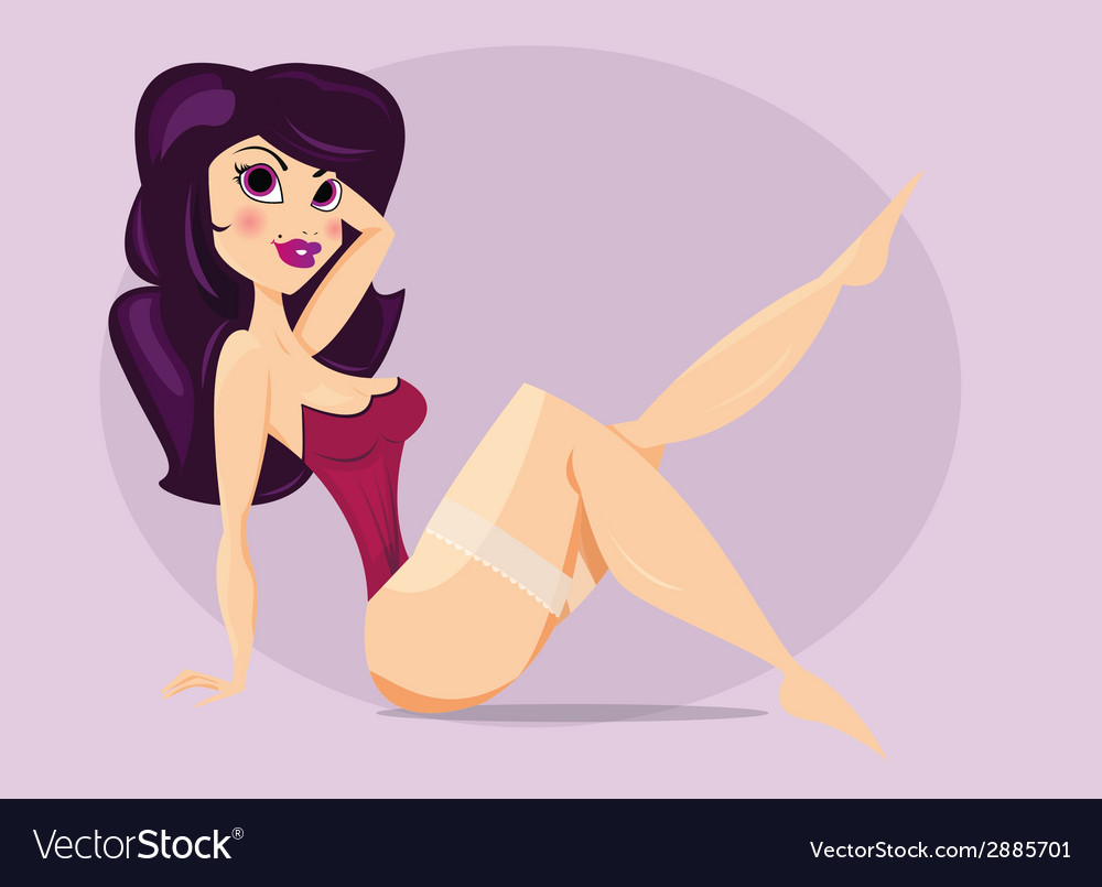 Beautiful pin up girl vector | Price: 1 Credit (USD $1)