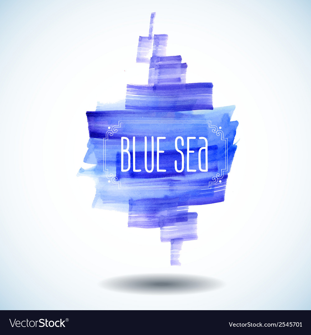 Blue sea abstract watercolor background vector | Price: 1 Credit (USD $1)
