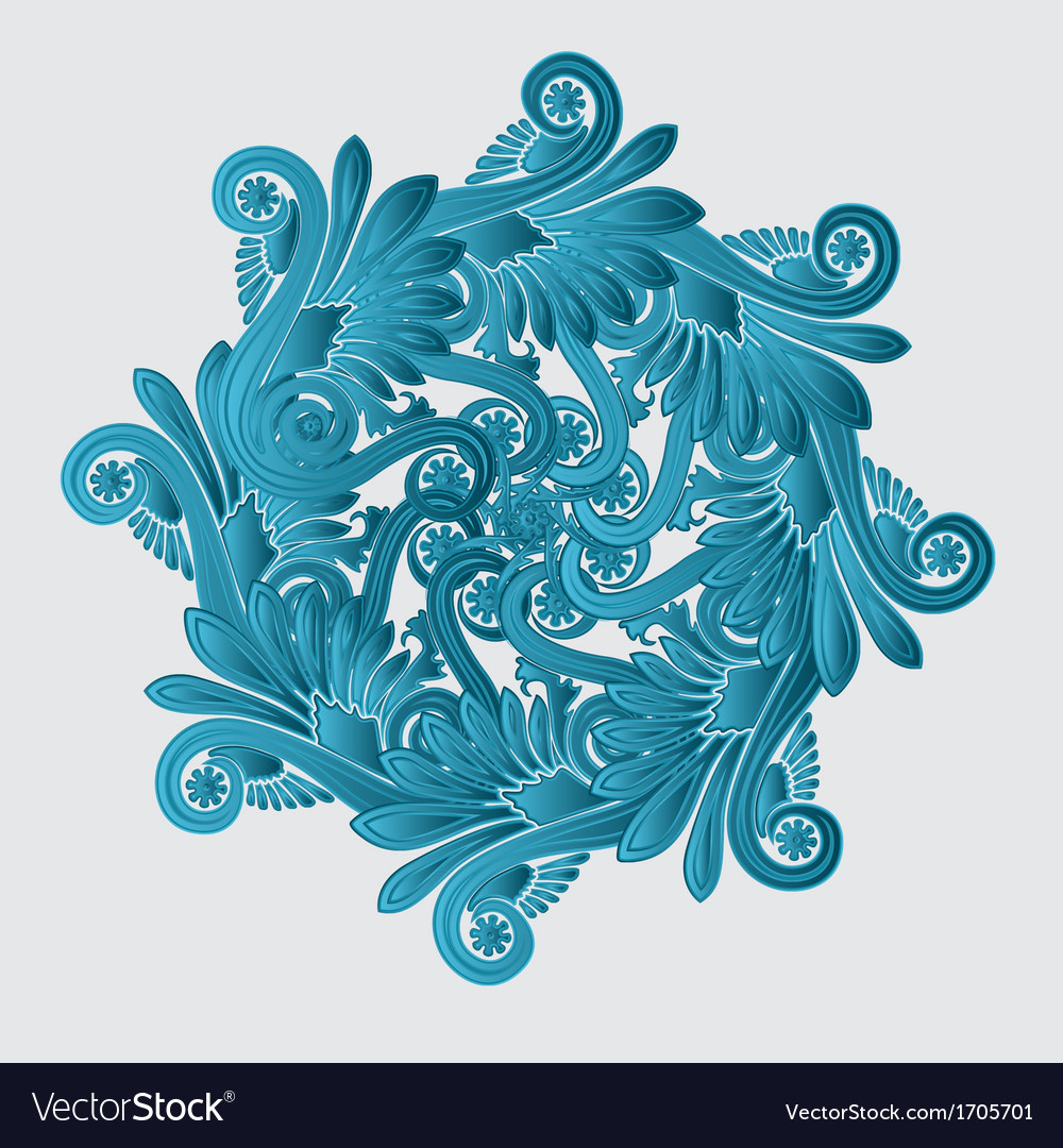 Decorative flourish design vector | Price: 1 Credit (USD $1)