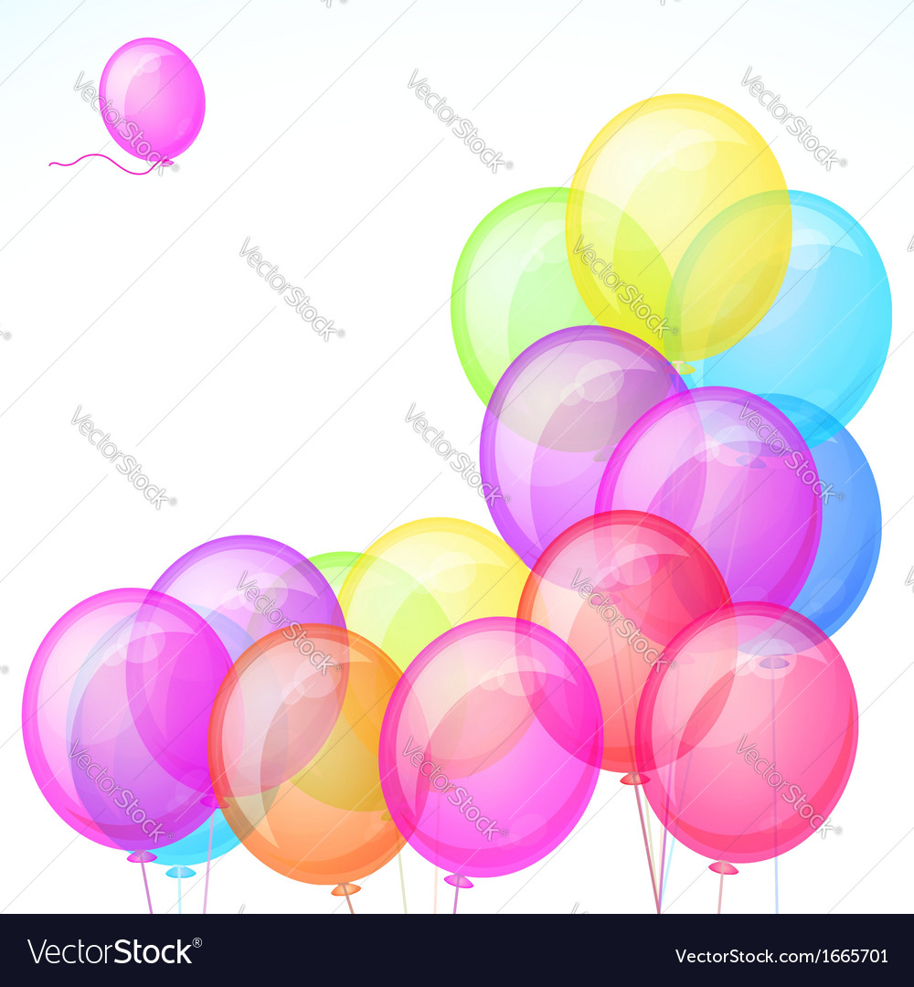 Group of colorful balloons isolated on white vector | Price: 1 Credit (USD $1)