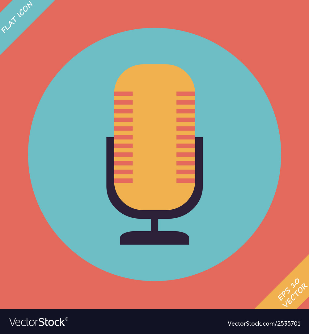 Retro microphone icon - vector | Price: 1 Credit (USD $1)