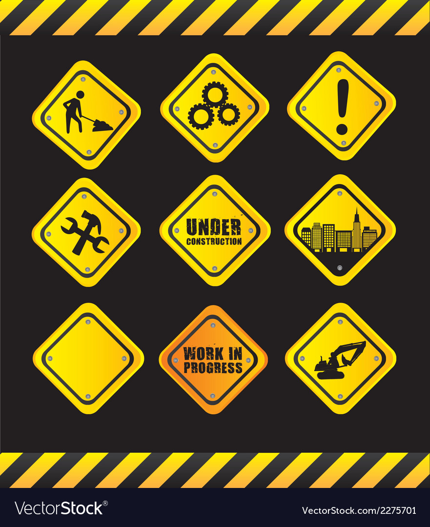 Safety signs vector | Price: 1 Credit (USD $1)