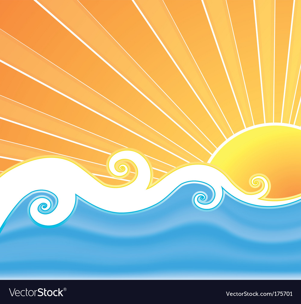Sunny summer swirls vector | Price: 1 Credit (USD $1)