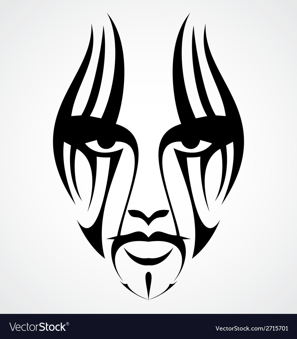 Tribal face tattoo vector | Price: 1 Credit (USD $1)