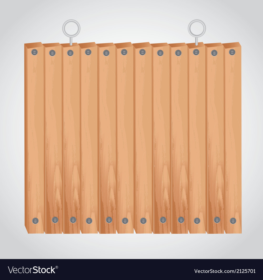 Wooden square board with grommets for hanging vector | Price: 1 Credit (USD $1)