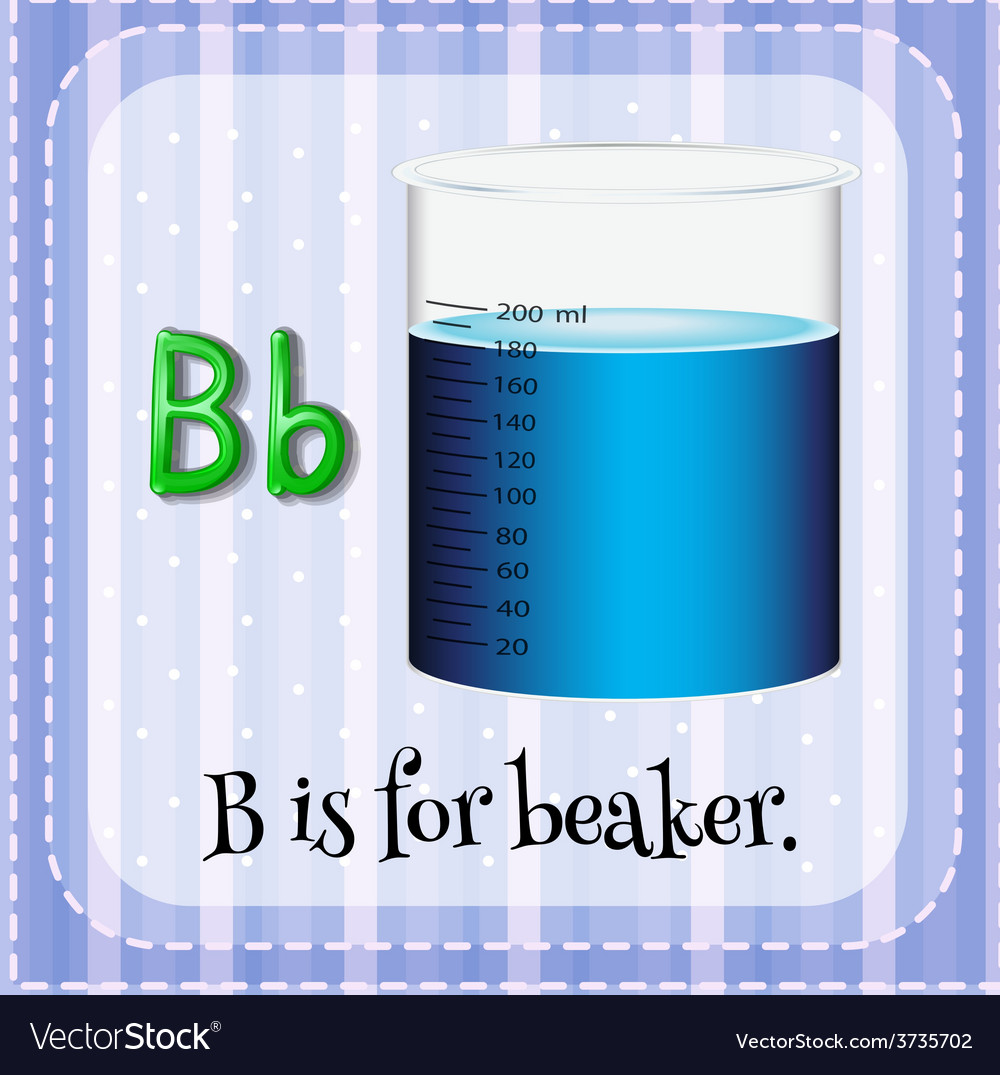 A letter b for beaker vector | Price: 1 Credit (USD $1)