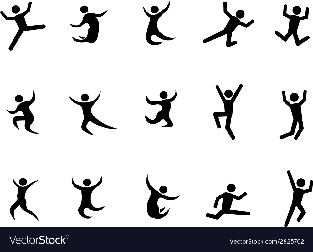 Abstract jumping figures vector | Price: 1 Credit (USD $1)